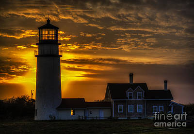 Photograph - Cape Cod Lighthouse At Sunset by George Garbeck