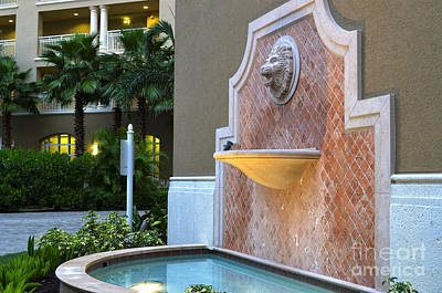 Art Print featuring the photograph Cape Coral Florida Fountain by Timothy Lowry