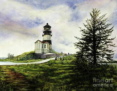 Cape Disappointment Lighthouse On The Washington Coast Art Print