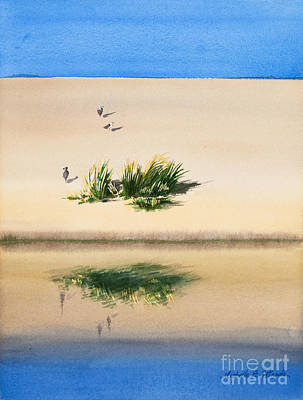 Cape Cod Painting - Cape Dune Watercolor by Michelle Wiarda-Constantine