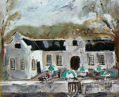 Cape Dutch House Art Print by Marietjie Du Toit