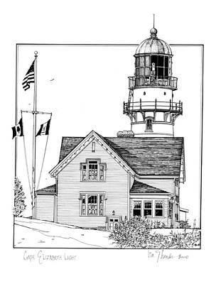 Cape Elizabeth Lighthouse Art Print