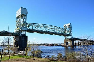 Photograph - Cape Fear Bridge Going Up by Bob Sample