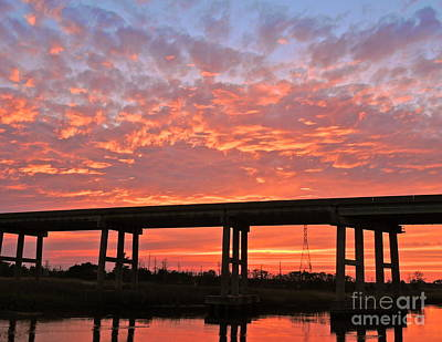 Photograph - Cape Fear Bridge Silhouette by Eve Spring