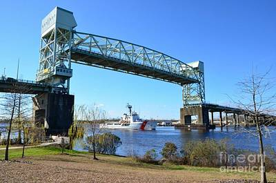 Cape Fear Draw Bridge  Art Print by Bob Sample