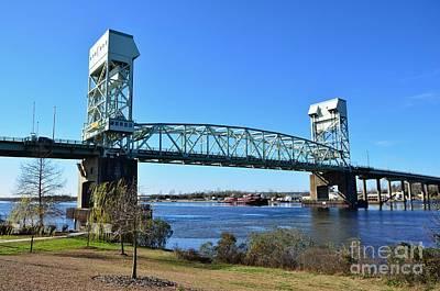 Photograph - Cape Fear Memorial Draw Bridge  by Bob Sample