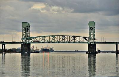 Photograph - Cape Fear Memorial Bridge by Steven Richman