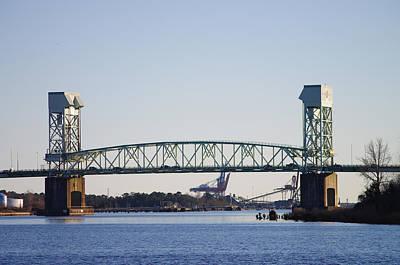 Pyrography - Cape Fear Memorial Bridge by Willard Killough III