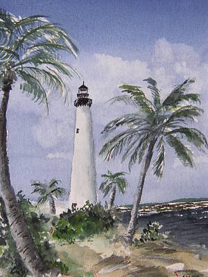 Painting - Cape Florida Light by Stephanie Sodel