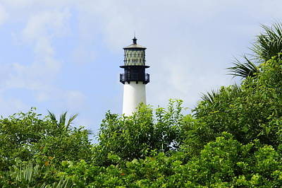 Photograph - Cape Florida Lighthouse by Laurie Perry