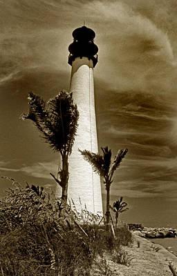 Cape Florida Lighthouse Art Print by Skip Willits