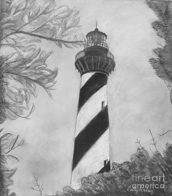 Beacon Photograph - Cape Hatteras Light Black And White by Cathy Lindsey