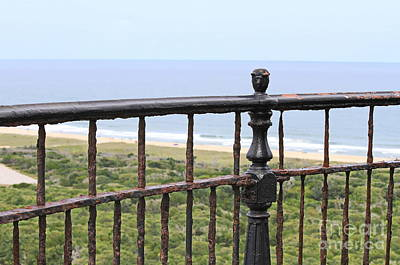 Museum Photograph - Cape Hatteras Light Railing by Cathy Lindsey