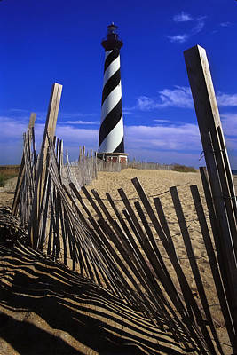 Photograph - Cape Hatteras Light With Fence by Jack Daulton