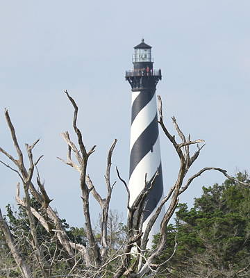 Israeli Flag - Cape Hatteras Lighthouse 2014 19 by Cathy Lindsey