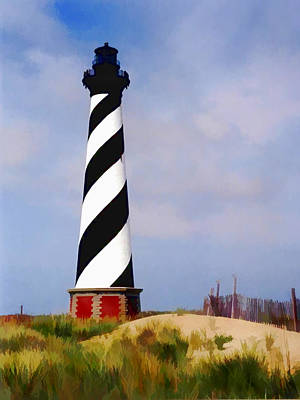 North Sea Painting - Cape Hatteras Lighthouse by Elaine Plesser