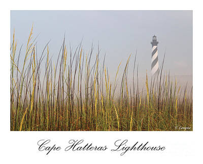 Cape Hatteras Lighthouse In The Fog Art Print