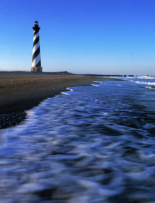 Cape Hatteras Lighthouse Photograph - Cape Hatteras Lighthouse On The Coast by Panoramic Images