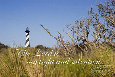 Scripture Photograph - Cape Hatteras Lighthouse Scripture by Jill Lang