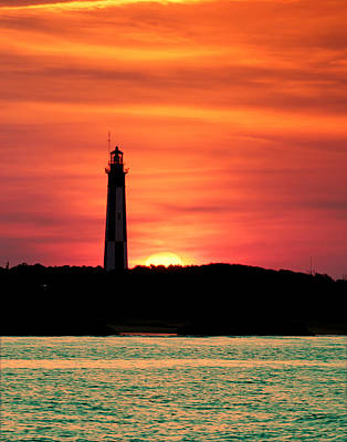 Photograph - Cape Henry Lighthouse At Sunset by Pete Federico