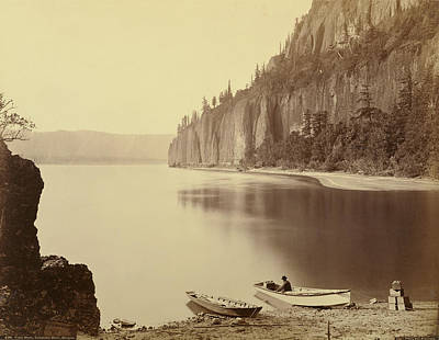 Oregon Drawing - Cape Horn, Columbia River, Oregon Carleton Watkins by Litz Collection