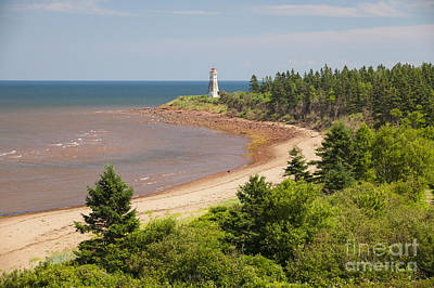 Cape Jourimain Lighthouse In New Brunswick Art Print by Elena Elisseeva