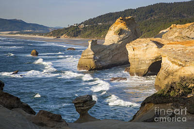 Photograph - Cape Kiwanda Formations by Brian Jannsen