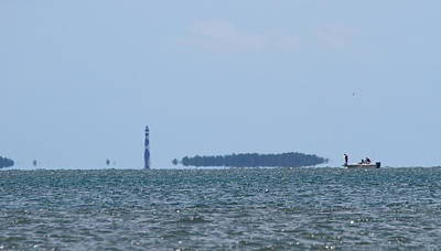 Cape Lookout And Boat Art Print