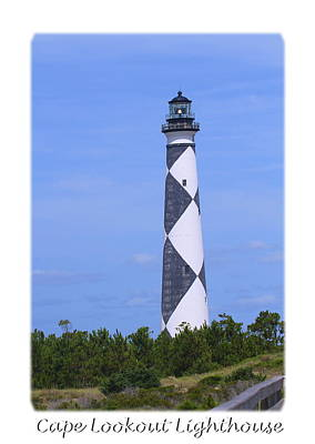 Sound Photograph - Cape Lookout Light 2014 13 by Cathy Lindsey