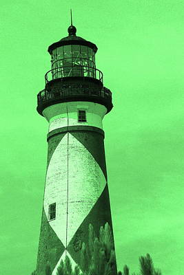 Photograph - Cape Lookout Light In Green by Cathy Lindsey