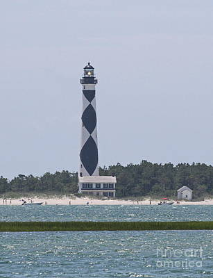 Grass Photograph - Cape Lookout Lighthouse 3 by Cathy Lindsey