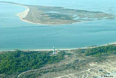 Cape Lookout Lighthouse From The Air Art Print