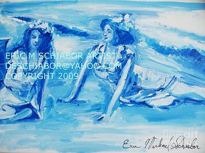 Drawing - Cape May Bathing Beauty by Eric  Schiabor
