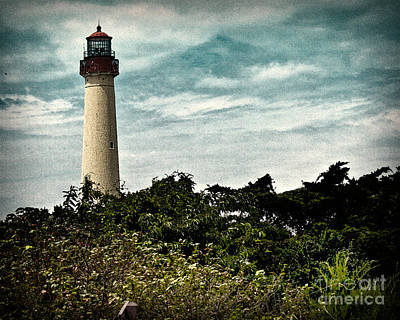 Beach House Photograph - Cape May Light House by Tom Gari Gallery-Three-Photography