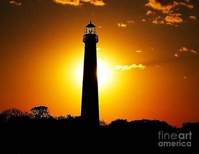 Photograph - Cape May Lighthouse Aglow by Nick Zelinsky