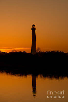 Wild And Wacky Portraits Rights Managed Images - Cape May Lighthouse Golden Reflections Royalty-Free Image by Michael Ver Sprill