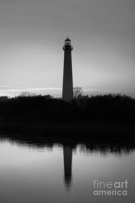 Cape May Lighthouse Reflections Bw Original