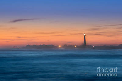 Cape May Lighthouse Sunset Art Print by Michael Ver Sprill