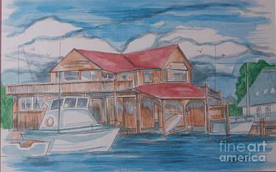 Cape May Marina Original by Jack Selby