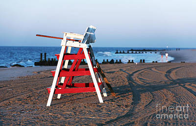 Empty Chairs Photograph - Cape May Morning by John Rizzuto