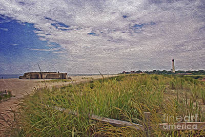 Cape May Nj Summer Time Art Print by Tom Gari Gallery-Three-Photography
