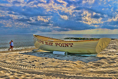 Photograph - Cape May Point N J Rescue Boat by Allen Beatty