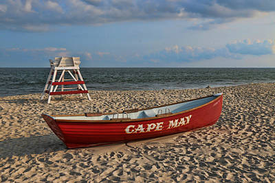 Photograph - Cape May N J Rescue Boat by Allen Beatty