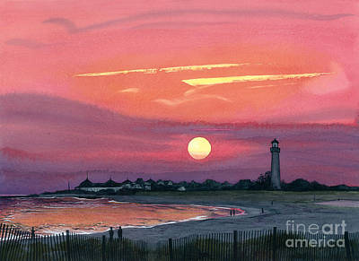Painting - Cape May Sunset by Barbara Jewell