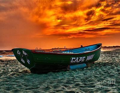 Cape May Sunset Print by Nick Zelinsky