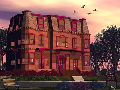 Victorian Digital Art - Cape May Victorian by John Pangia