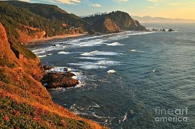 Photograph - Cape Meares Glows by Adam Jewell
