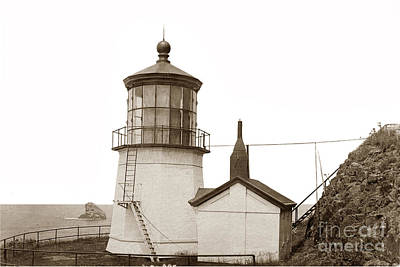 Photograph - Cape Meares Lighthouse  Circa 1920 by California Views Mr Pat Hathaway Archives