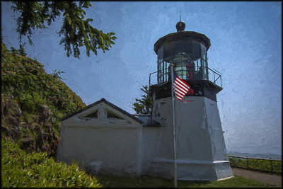 Photograph - Cape Meares Lighthouse by Erika Fawcett