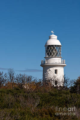 Photograph - Cape Naturaliste Lighthouse Blue Sky 02 by Rick Piper Photography